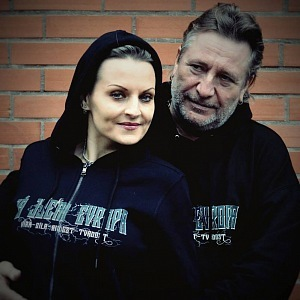 With her husband Jan Žižka