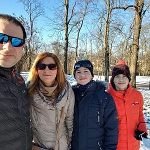 Markéta Vaňková s rodinou.