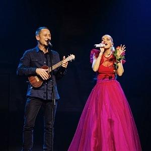 Matěj s Darou na jednou pódiu.