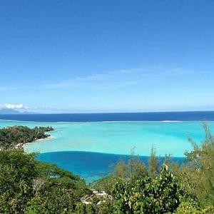 Jedno z nejméně dostupných míst - Bora Bora.