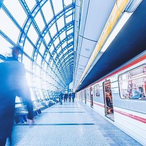 Pražské metro ve stanici