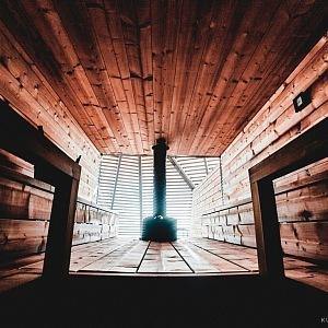 Finská sauna v Helsinkách Löyly