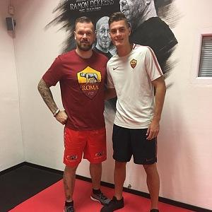 Michal Břetenář s fotbalistou Patrikem Schickem