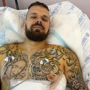Michal v nemocnici