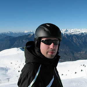 Milan Sova na lyžích.