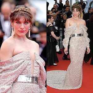 Milla Jovovich - dress Balmain