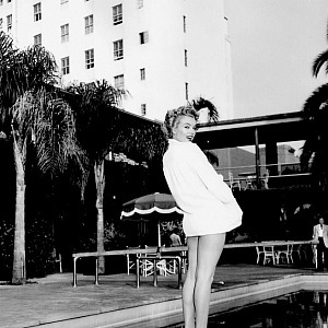 Marilyn Monroe at Beverly Hills Hotel