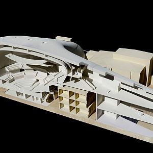 Model sálu od architektů