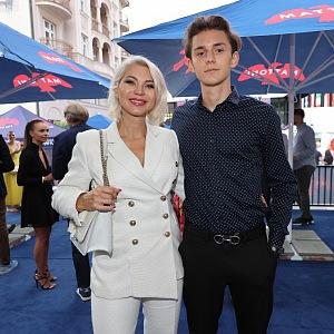 Natali se svým synem Filipem