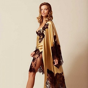Nayeli Long Kimono Gold And Black