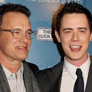 Tom Hanks with his son Colin