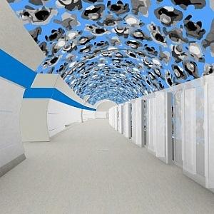 Vizualizace budoucí stanice metra D Olbrachtova.
