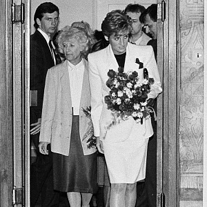 With princess Diana, who also dedicated her life to he others