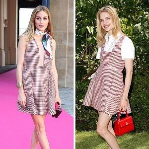 Olivia Palermo, Natalia Vodianová v šatech Dior