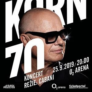 Jiří Korn 25. 9 2019 v O2 areně chystá megakoncert
