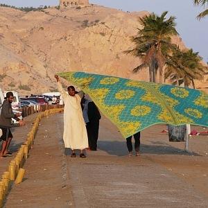 Al Sawadi beach – piknik místních