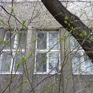 Boční část a typická velká okna