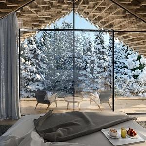 Interiér apartmánu Tree Suittes