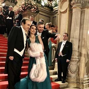 Operní pěvkyně Valentina Nafornita a tenor Pavol Breslik (vpravo)