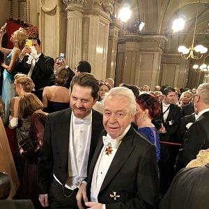 Kulturní manažer Daniel Serafin a zpěvák Harald Serafin
