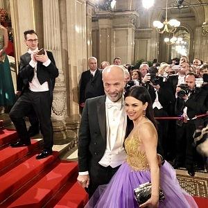 Německý herec Heiner Lauterbach s manželkou Viktorii