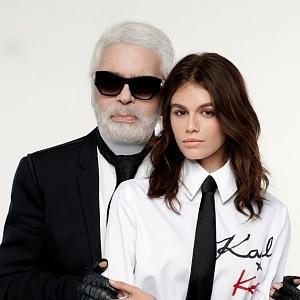 Karl Lagerfeld a Kaia Gerber