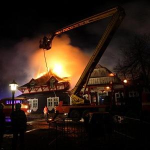 Libušín podlehl požáru v roce 2014.