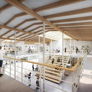 Vizualizace interiéru E Factory.