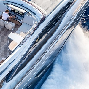 Detail of the yacht
