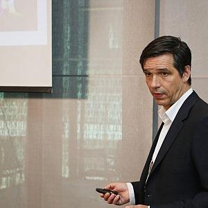 Profesor Lischke během přednášky