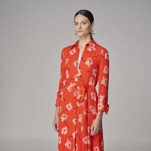 Květované šaty oranžové