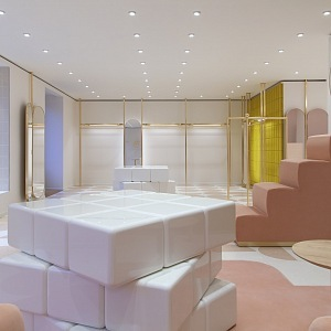 Božský interiér butiku RED Valentino