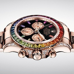 Luxusní hodinky Rolex Daytona Rainbow.