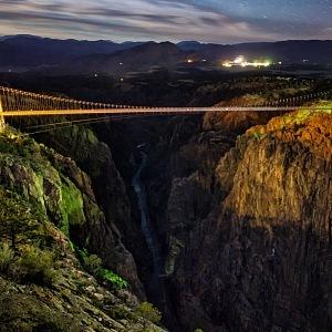 Royal Gorge Bridge večer