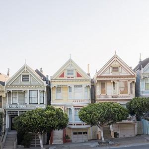 Viktoriánské domky v San Franciscu