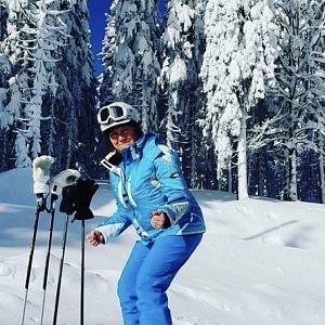 Alena Schillerová má ráda lyžování