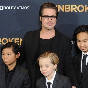 Brad Pitt with sons