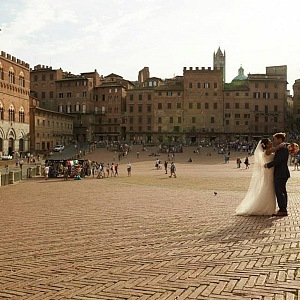 Square in town of Siena