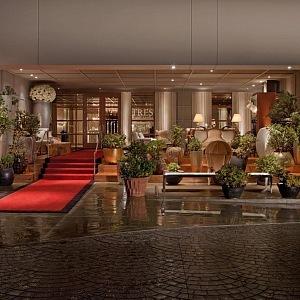 SLS Beberly Hills, vstup do hotelu