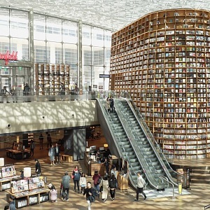 Knihovna Starfiled a nákupní středisko