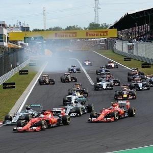 Start závodu Formule 1