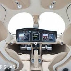 Nádherný interiér letadla