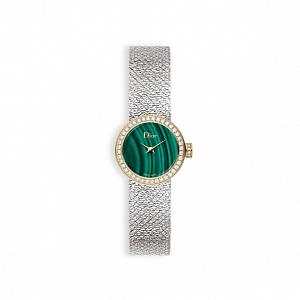 La Mini D De Dior Satine - Malachit