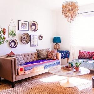 Obývací pokoj ve stylu Jungalow