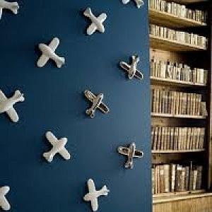 Porcelánová tapeta - letadla