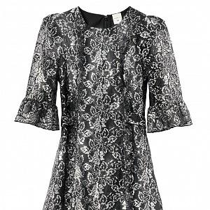 Stříbrné šaty THE VAMPIRE´S WIFE X H&M