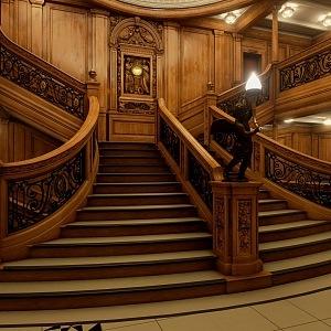 Legendární schodiště z filmu bude na novém Titanicu také.