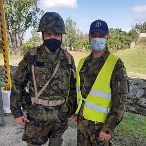 Tomáš Zdechovský při vojenském výcviku