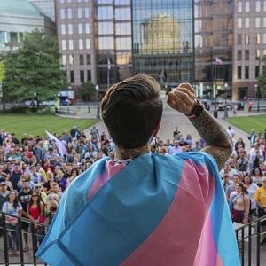 Proslov během demonstrace