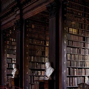 Trinity college knihovna Dublin